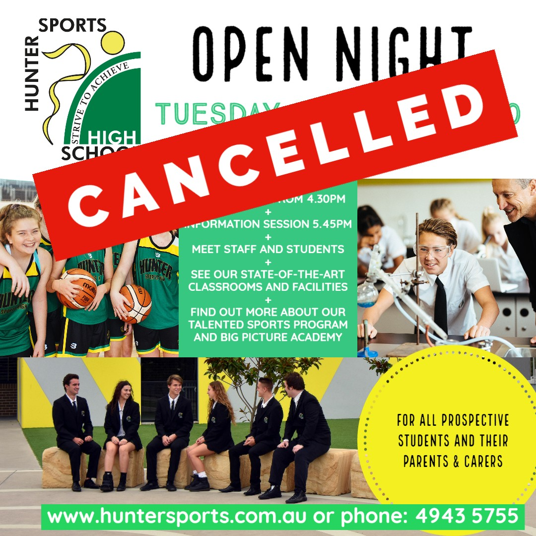 2020 Open Night cancelled