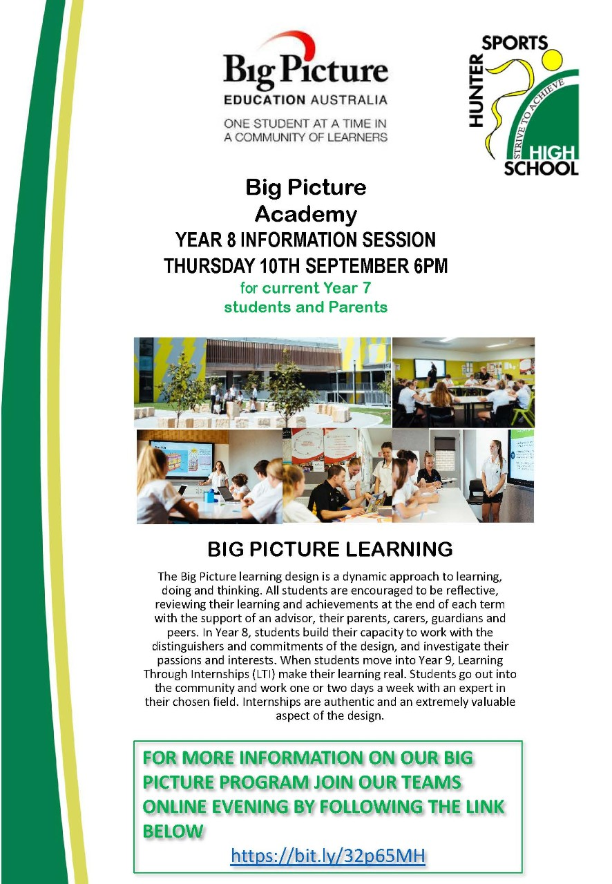 big picture info night flyer image