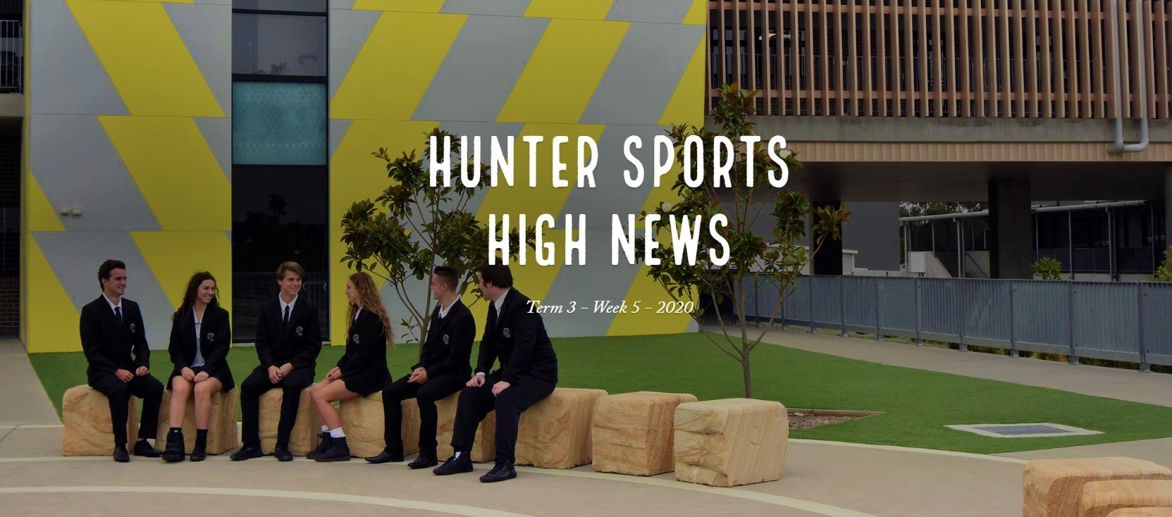 Newsletter Header with image of 6 student leaders talking at school